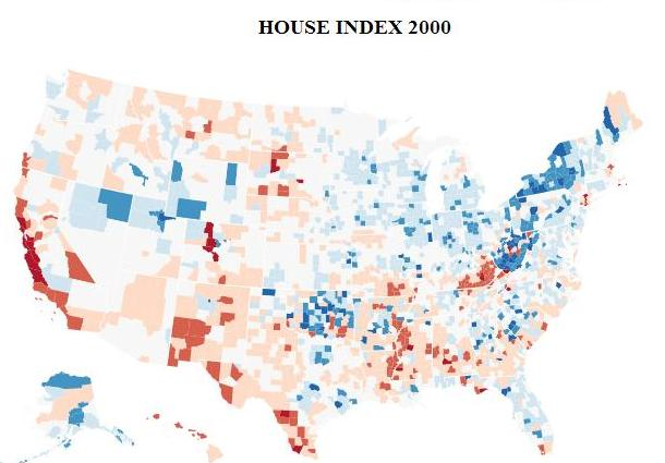 The 2000 housing Index 6 years prior to national peak.
