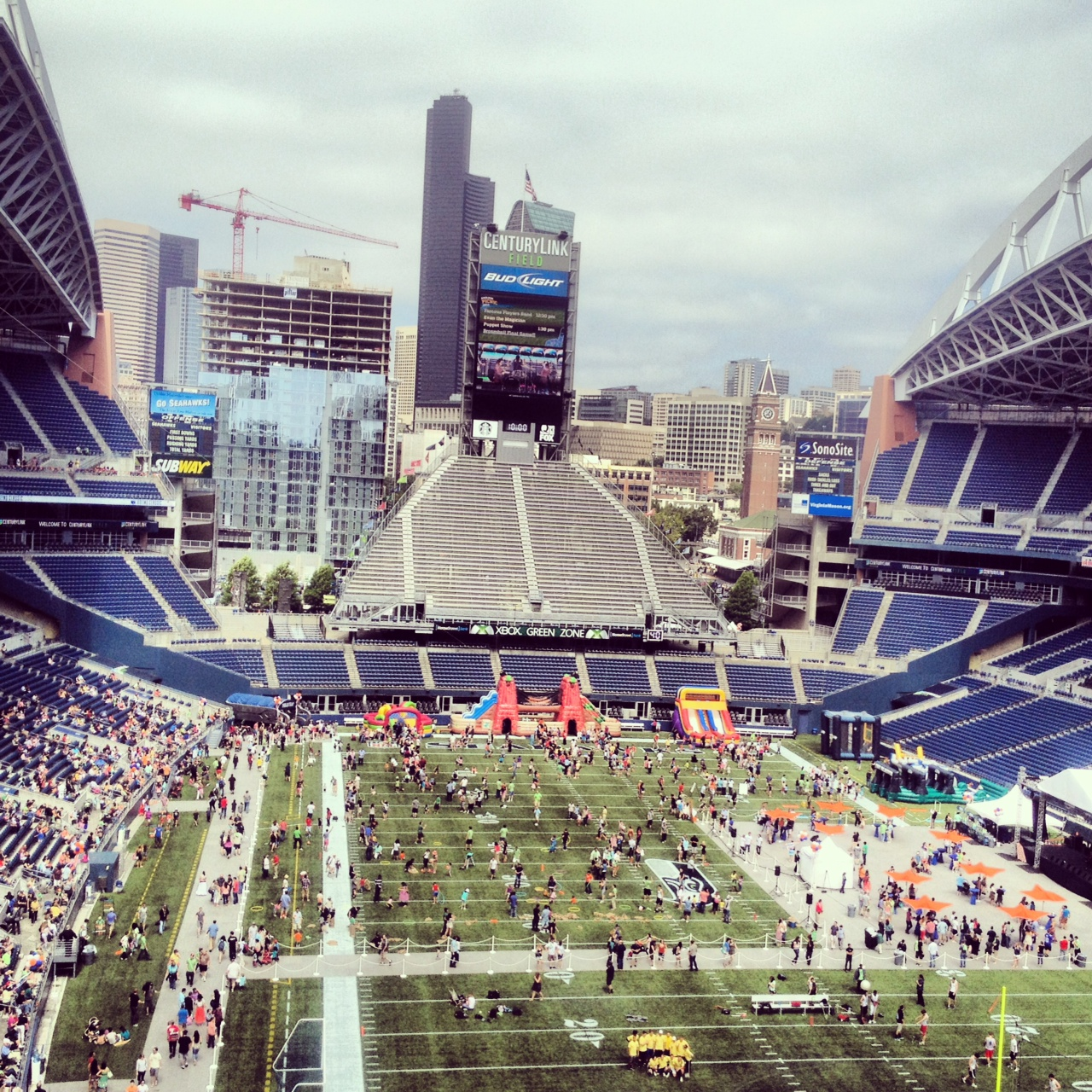 High level view of Century Link field in Seattle, WA.